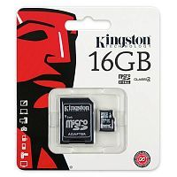 Карта памяти Kingston Canvas Select microSDHC Class 10 UHS-I U1 16GB + SD adapter (SDCS/16GB)